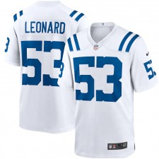 Darius Leonard Indianapolis Colts Nike juego jugador Camisetas - Blanco