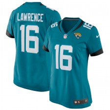 Trevor Lawrence Jacksonville Jaguars Nike Femenino 2021 NFL Draft Primera Ronda coger juego Camisetas - Teal