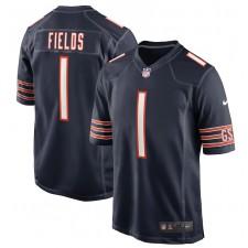 Justin Fields Chicago Bears Nike 2021 NFL Draft Primero redondo coger Juego Camisetas - Marina