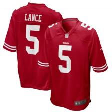 Trey Lance San Francisco 49ers Nike jugador Juego Camisetas - Escarlata