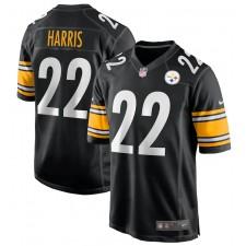 Najee Harris Pittsburgh Steelers Nike 2021 NFL Draft Camiseta de primera ronda pick game - Negro
