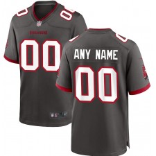 Tampa Bay Buccaneers Nike Camiseta alternativa de juego personalizado - Peltre