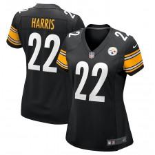Najee Harris Pittsburgh Steelers Nike Femmes Juego Camisetas - Negro