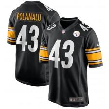 Troy Polamalu Pittsburgh Steelers Nike Camiseta de juego de jugador retirado – Negro