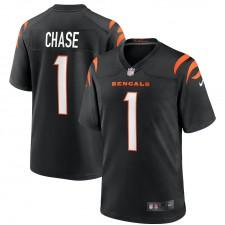Ja'Marr Chase Cincinnati Bengals Nike 2021 NFL Draft Primero Redondo Coger Juego Camisetas - Negro