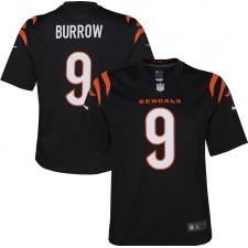 Joe Burrow Cincinnati Bengals Nike niño juego Camisetas - Negro