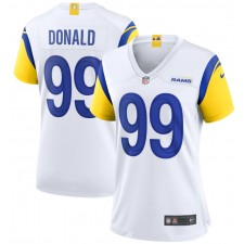 Camiseta de juego alternativa de los Rams de Los Angeles Nike para mujer - Blanco