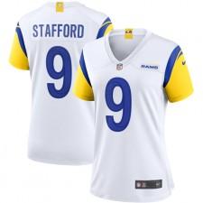 Camiseta de Juego Nike de Matthew Stafford Los Angeles Rams para mujer - Blanco