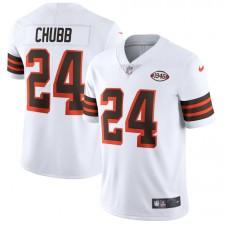 Nick Chubb Cleveland Browns Camiseta limitada Nike 1946 Collection Alternate Vapor - Blanco