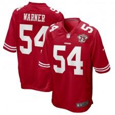 Fred Warner San Francisco 49ers Camiseta de Juego Nike 75th Anniversary - Escarlata