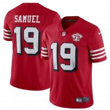 Deebo Samuel San Francisco 49ers Camiseta de Jugador Nike 75th Anniversary Alternate Vapor Limited - Escarlata