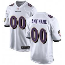 Camiseta de juego personalizada de los Baltimore Ravens Nike - Blanca