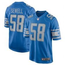Penei Sewell Detroit Lions Camiseta de Juego Nike - Azul