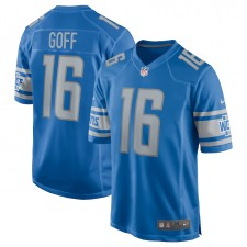 Jared Goff Detroit Lions Camiseta de Juego Nike - Azul