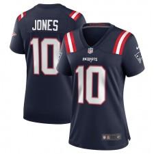 Mac Jones New England Patriots Camiseta de Juego Nike para Mujer - Azul Marino