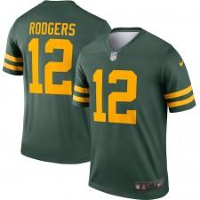 Aaron Rodgers Green Bay Packers Camiseta Nike Alternate Legend Jugador - Verde