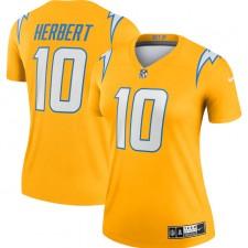 Justin Herbert Los Angeles Chargers Camiseta Nike Legend Invertida de Mujer - Oro