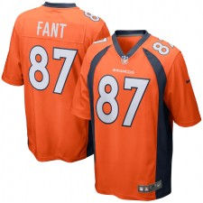 Noah Fant Camiseta de Juego de los Denver Broncos - Naranja
