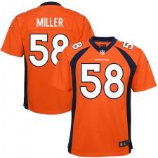 Von Miller Denver Broncos Camiseta de Juego Nike Niños Equipo Color - Naranja