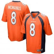 Camiseta de juego de los Denver Broncos de Brandon McManus - Naranja