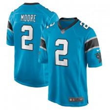 D.J. Moore Carolina Panthers Camiseta de Juego Nike - Azul