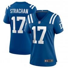 Camiseta de juego Mike Strachan Indianapolis Colts de mujer - Real
