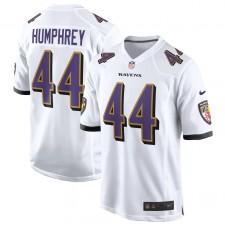 Camiseta de juego de los Baltimore Ravens de Marlon Humphrey - Blanco