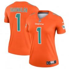 Camiseta Nike Tua Tagovailoa Miami Dolphins de mujer Inverted Legend - Naranja