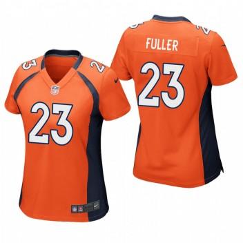 Mujeres Denver Broncos Kyle Fuller Anaranjado Juego Camisetas
