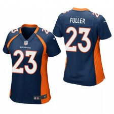 Mujeres Denver Broncos Kyle Fuller Navy Game Camisetas