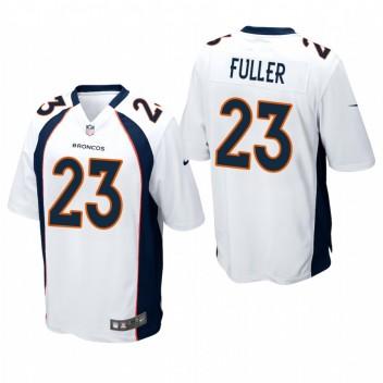 Denver Broncos Kyle Fuller Blanco juego Camisetas