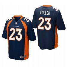 Denver Broncos Kyle Fuller Navy Game Camisetas