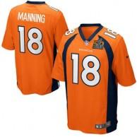 Men's Denver Broncos Peyton Manning Nike Orange Super Bowl 50 Game Jersey