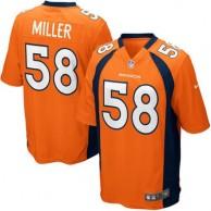 Mens Denver Broncos Von Miller Nike Orange Game Jersey