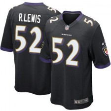 Mens Baltimore Ravens Ray Lewis Nike Black Alternate Game Jersey