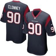 Mens Houston Texans Jadeveon Clowney Nike Navy Blue Game Jersey