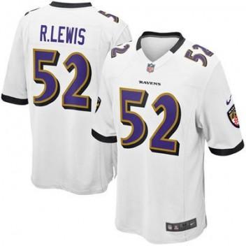 bcaefc5b8a409 Nike Ray Lewis Baltimore Ravens Jóvenes Juego NFL Tienda Camisetas - Blanco
