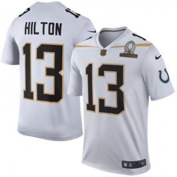 Hombres Equipo Rice T.Y. Hilton Nike Blanco 2016 Pro Bowl Juego NFL Tienda  Camisetas