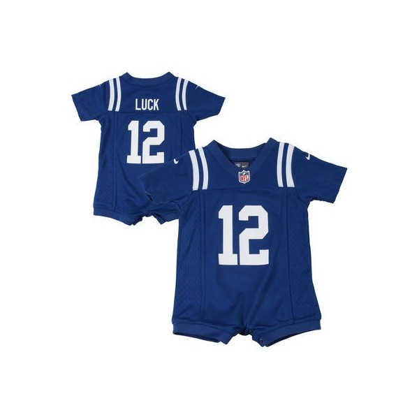 762e8e37b37 Infant Indianapolis Colts Andrew Luck Nike Royal Blue Game Romper Jersey