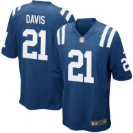 Mens Indianapolis Colts Vontae Davis Nike Royal Blue Game Jersey