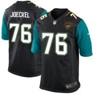 Mens Jacksonville Jaguars Luke Joeckel Nike Black Game Jersey