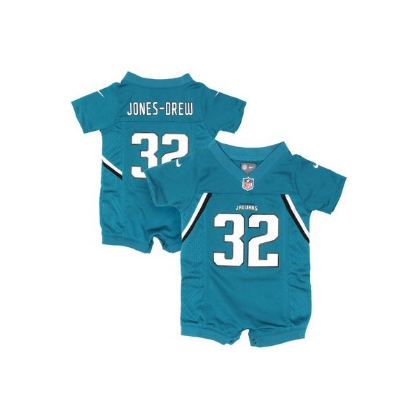 Infant Jacksonville Jaguars Historic Logo Maurice Jones-Drew Teal Game  Romper Jersey a11a08834