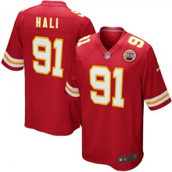 Hombres Kansas City Chiefs Tamba Hali Nike Rojo Juego NFL Tienda Camisetas
