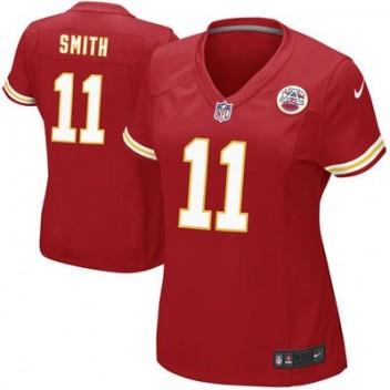 Mujeres Kansas City Chiefs Alex Smith Nike Rojo Juego NFL Tienda Camisetas