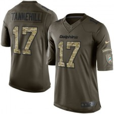 Men's Miami Dolphins Ryan Tannehill Nike Green Salute To Service Limited Jersey
