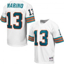 Mens Miami Dolphins Dan Marino Mitchell & Ness White Retired Player Vintage Replica Jersey