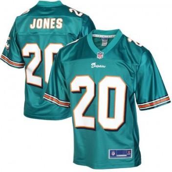 9d877161439fa Pro línea Hombres Miami Dolphins Reshad Jones Equipo Color NFL Tienda  Camisetas- Aqua