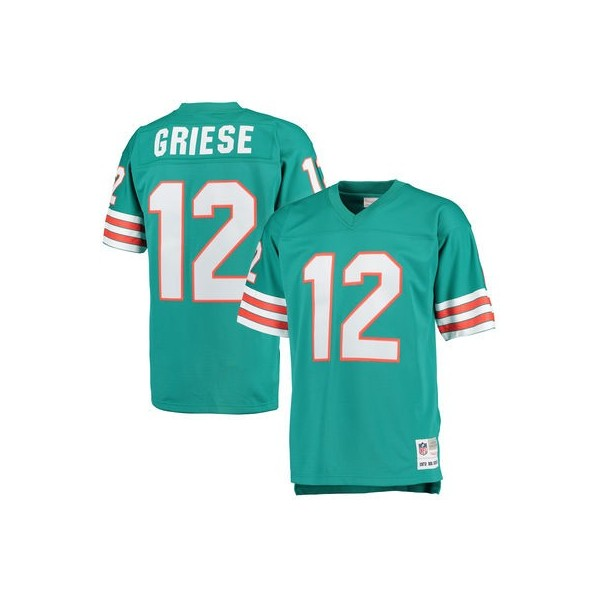 3b374510 Men's Miami Dolphins Bob Griese Mitchell & Ness Aqua Retired Player Replica  Jersey