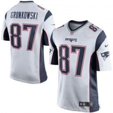 Hombres New England Patriots Roban Gronkowski Nike Blanco/Marino Azul Juego NFL Tienda Camisetas
