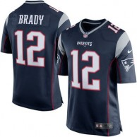 Hombres New England Patriots Tom Brady Nike Marino Azul/Silver Juego NFL Tienda Camisetas